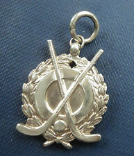Vintage Sterling Silver Medal or Fob h/m 1930 -  Hockey / Shinty -  not engraved