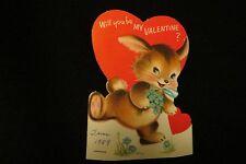 Vintage Rabbit Valentine Card c. 1950s by: Norcross