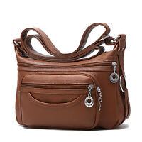 Women's Casual Soft Leather Purse Shoulder Handbags Satchel Bags Cross Body Bags