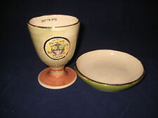 Hand Made Ceramic Kiddush Cup and Saucer by Michal Ben Yosef - Classic - New