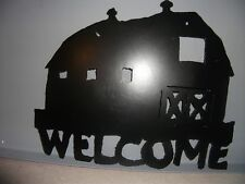 Handcrafted Country Barn Silhouette Metal Decor Steel Item