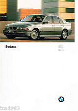 Lrg 1997 Bmw 5 Series Sedans Brochure / Catalog: 528i,540i,