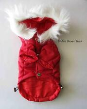 NEW DOG CLOTHES WINTER COAT JACKET RED PARKA HOODIE XXL (4 SM BREED)