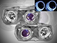 Fit For 94 95 96 97 Acura Integra Projector Headlights Two Halo Chrome