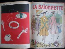 La Baïonnette 1915 - 45 numéros Illustrateur Iribe Cappiello Poulbot Fabiano etc