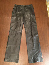 $750 MICHAEL KORS Brown Lamb-skin Leather Pants Size 8 Fully-Lined Made in ITALY