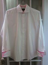 Simon Carter London White Button Up Long/S French Cuffs Dress/S Men 16-41 **EX**