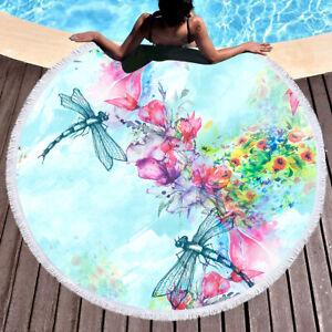 European American style dragonfly flying flower pattern beach furniture carpet