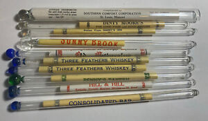 Whiskey Glass Swizzle Sticks. New York City, Chicago, Southern Comfort