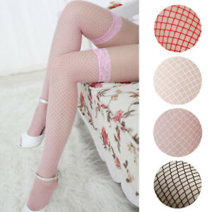 Fashion Lingerie Women Ladies Sexy Lace Fishnet Party Thigh High Stockings Hot