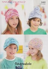 Sirdar 2460 Cappelli in Jolly DK-ORIGINALE Knitting Pattern - 4 a 12 anni