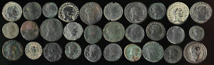 ++AUTHENTIC++ 30 ANCIENT ROMAN COPPER COINS (NICE!!) YOU IDENTIFY > NO RESERVE