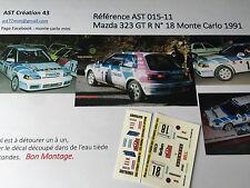 Decal Calca 1 43 MAZDA 323 GTR N°18 Rally WRC monte carlo 1991 montecarlo