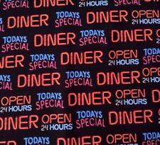 """33"""" Today's Special by LGD Studios VIP Cranston Diner Open 24 Hours on Black"""
