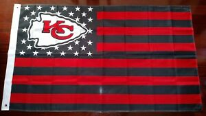 Kansas City Chiefs 3x5 American Flag. US seller. Free shipping within the US