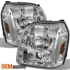 Fits 07-12 GMC Yukon Denali Chrome Halo Projector LED Headlights Lamp Left+Right