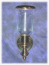 Brass Sconce with brass trim globe
