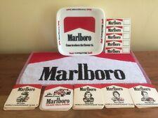Marlboro Vintage World Championship Team Drip Mats , Glass dish & beer towel