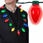 New Christmas Large Bulb Necklace LED Light Up Party Favors For Adults Or Kids