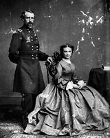 New 8x10 Civil War Photo: Union - Federal General George Armstrong Custer & Wife