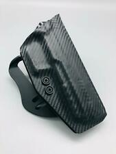 Fits a Glock 43X Black Carbon Fiber Kydex OWB Outside Holster w/ Paddle Clip