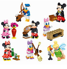 Set of 2 Disney Characters Mini Figures Accessories Mickey Mouse Free Gift Bags