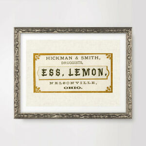 DRUGGIST VICTORIAN PHARMACY CHEMIST LABELS ART PRINT Poster Sign Wall