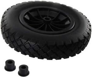 "14"" Universal PU Puncture Proof Solid Industrial wheelbarrow wheel Tyre 3.5-8"