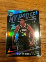 2019-20 Donruss Optic Giannis Antetokounmpo My House Silver Prizm Bucks