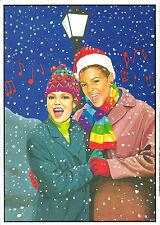 Gay Lesbian LGBT Holiday Cards G-Gallery Rainbow Lesbian Carolers Diversity