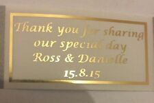 1000 FROSTY GOLD METALLIC PERSONALISED TRANSPARENT LABELS