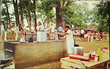 Con Can / Leakey, TX 1970 Chrome Postcard: Hill Country Cook-Out - Texas Tex