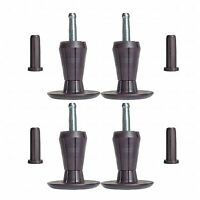 SET OF 4, PREMIUM Steel Core Two-Part Stem Glides Bed Frame Feet Legs & Inserts