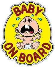 "Baby On Board In Car Sign Crying Car Bumper Window Locker Sticker Decal 5""X6"""