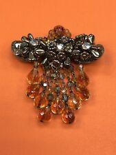 Rare Vintage Hattie Carnegie Crystal Brooch