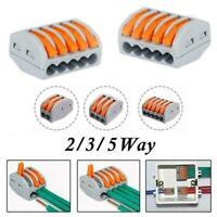 5/10/50pcs Flame Retardant Terminal Electrical Connectors Block Clips Clamp G3Q8