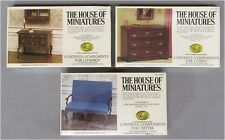 Vintage The House of Miniatures Wood Furniture 3 Pieces 40024 40011 40055