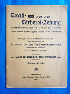 Textil und Färberei Zeitung 1903 n°1  Camille KOECHLIN