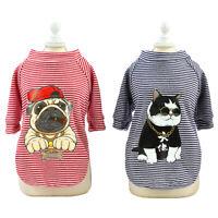 Hundekleidung für Kleine Hunde Hundepullover Haustier Katzen Welpe Shirt S-XXL