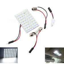 Nuevo 48 LED Festoon Bombilla Auto coche cúpula Interior Lámpara Luz de Techo con adaptador de T10