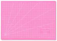 Crafts A3 Self-Healing Cutting Mat Quilting Pink Grid 5 Layer PVC Sewing