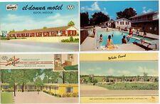 c1940s-50s Missouri motel pcs - Carthage, Table Rock Lake, Lake Ozark, Eldon