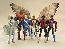Marvel Legends X-Men toybiz Storm Quicksilver Colossus Gambit Nightcrawler Lot