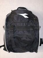 Diadora Nylon Black Soccer Backpack W/ Front Vented Shoe/Ball Pocket 18x13x10""