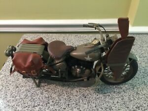 """1/6 SCALE WWII US ARMY MOTORCYCLE 12"""" CAPTAIN AMERICA MARVEL HARLEY WW2 HOT TOYS"""