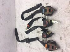 01-06 BMW 325ci 330ci 323ci M3 E46 2dr COUPE SET OF FOUR BLACK SEAT BELTS
