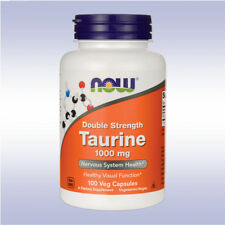 NOW DOUBLE STRENGTH TAURINE, 1000 MG (100 CAPSULES) antioxidant mood relaxer