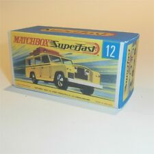 Matchbox Lesney Superfast 12 Land Rover Safari empty Repro G style Box