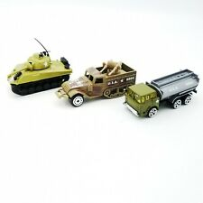Toy Military Tank Half Track Tanker Diecast Vehicles Bundle of 3 Collectible