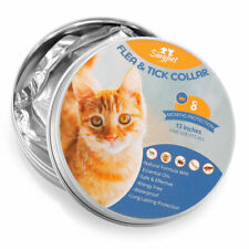 Flea and Tick Collar for All Cats Waterproof Pest Control 8 Months Protection